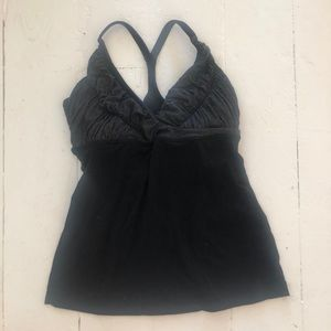 Black/ grey lulu top